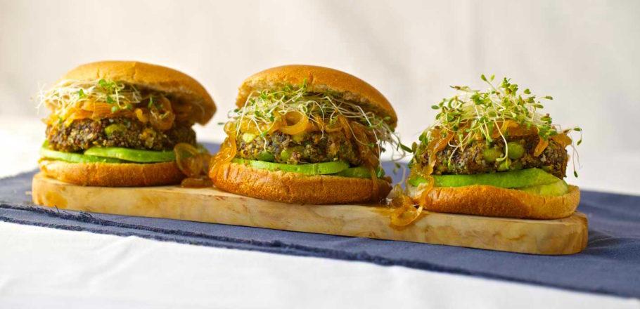 Ricetta di Burger all'Edamame e Quinoa